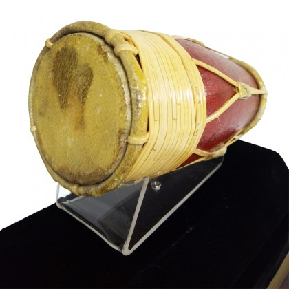 Gendang Melayu Replica - Traditional Musical Instrument in Acrylic Display Case