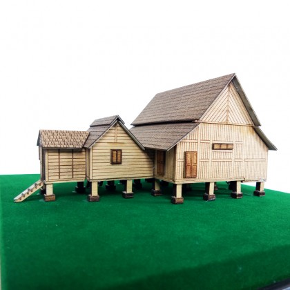 Pahang Traditional House Replica in Acrylic Display Case